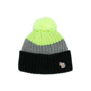 Paul Smith Junior tricolour knitted hat - ブラック