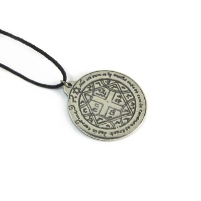 Pentacle for a Love Spellピューターペンダントonコード付きネックレス、Amulet and Talisman