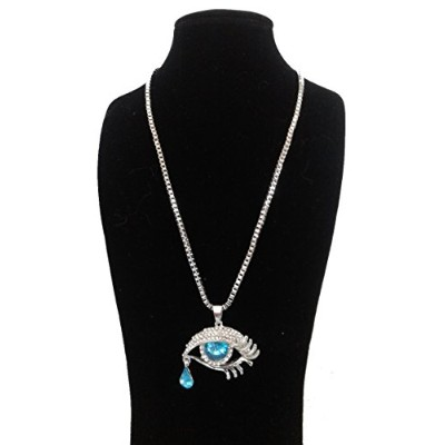 GGさまざまなネックレスLong with Eye and Tear Drop with Crystalsシルバー