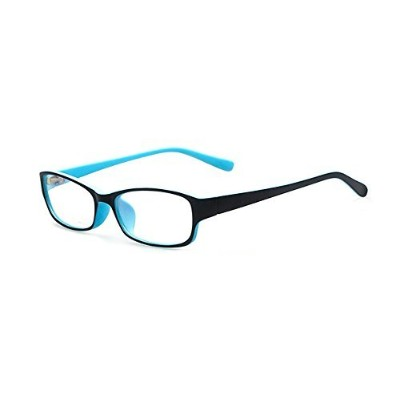 Outray Kids Retro Rectangle Clear Lens Glasses 8005C1 Blue by Outray