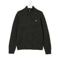 Ralph Lauren Kids TEEN zip detail sweater - グレー