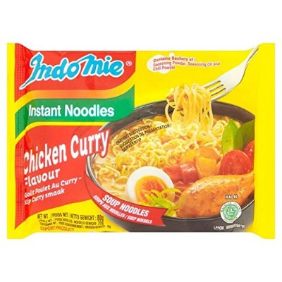 (Indomie) チキンカレーインスタントラーメンの80グラム (x6) - Indomie Chicken Curry Instant Noodles 80g (Pack of 6) ...