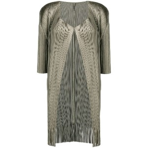 Pleats Please By Issey Miyake pleated jacket - グリーン