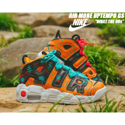 NIKE AIR MORE UPTEMPO(GS) total orange/black-hyper jade 【ナイキ モアアップテンポ GS What The 90s スニーカー モアテン...