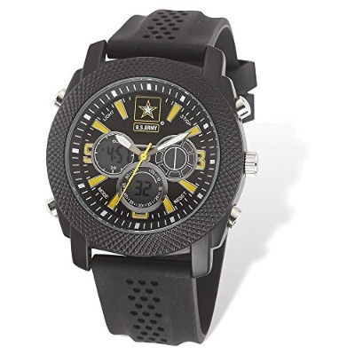 US Army Wrist Armor c21Watch Blk / Yellow Dial & Blk Rubber Strap