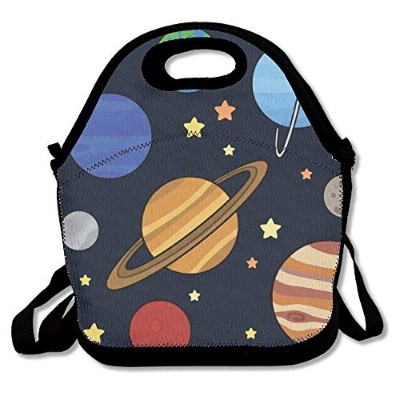 Funny Solar System ランチバッグ ボックス トートバッグ
