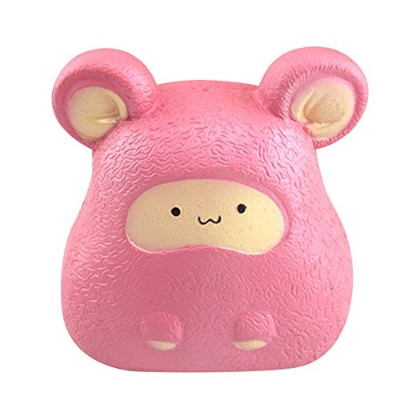 Crazyスクイーズ玩具、sacow Cartoon動物マウスSquishy Slow Rising Squeeze Stress Reliefソフトおもちゃ