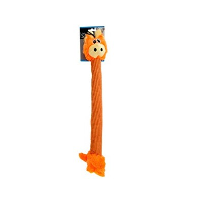 Bulk BuysロングボディGiraffe Plush Dog Toy -4-pack