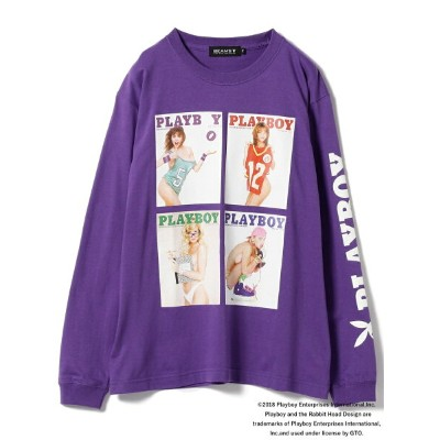[Rakuten BRAND AVENUE]PLAYBOY × BEAMS T / 別注 4Cover Long Sleeve Tee BEAMS MEN ビームス メン カットソー【送料無料】