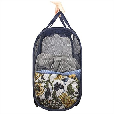 Foldable Pop-Up Mesh Laundry Hamper with Reinforced Carry Handles,Storage clothes, basketball,books...