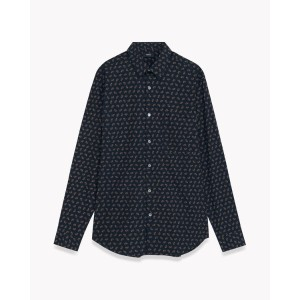 【Theory】Crown Print Irving Pa A 【30%OFF】王冠柄がユニークな長袖シャツ。 イエロー 大人 セオリー