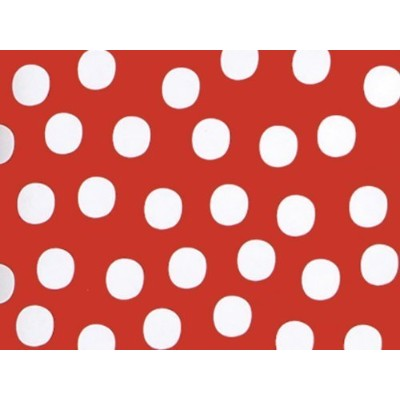 Red & White Polka Dot Gift Wrap Wrapping Paper 16 Foot Roll by Buttons Bags and Bows