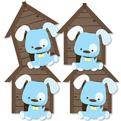 Boy Puppy Dog - Dog House Decorations DIY Baby Shower or Birthday Party Essentials - Set of 20