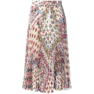Red Valentino RED (V) floral pleated midi skirt - ニュートラル