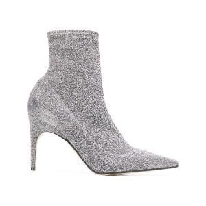 Sergio Rossi heeled ankle boots - シルバー