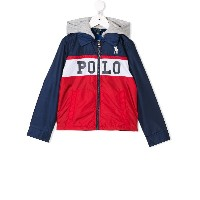 Ralph Lauren Kids logo print hooded jacket - レッド
