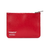 Off-White Pouch クラッチバッグ - レッド