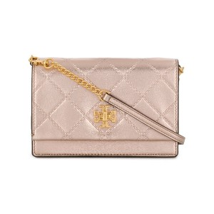 Tory Burch embossed quilt shoulder bag - ピンク