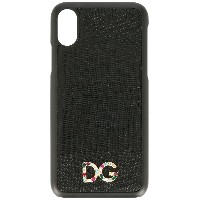 Dolce & Gabbana logo iPhone X case - ブラック