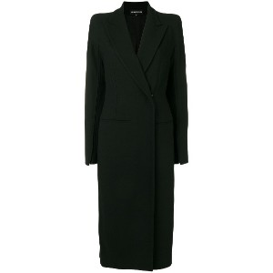 Ann Demeulemeester long double breasted coat - ブラック