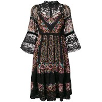 Etro lace pattern dress - ブラック