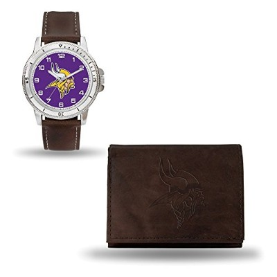 NFL Minnesota VikingsレザーWatch /財布セットby Rico Industries