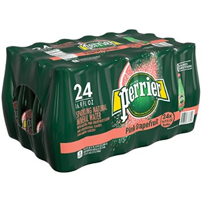 Perrier Sparkling Natural Mineral Water, Pink Grapefruit 16.9-ounce plastic bottles (Pack of 24) by...