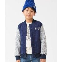 【3can4on(Kids)(サンカンシオン(キッズ))】 【150cmまで】ニットジップアップブルゾン OUTLET > トップス > パーカー ネイビー