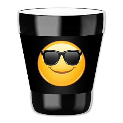 MugzieタンブラーDrink Cup with Removable Insulatedウェットスーツカバー – Sun Glasses絵文字 12オンス 8131-LBAL