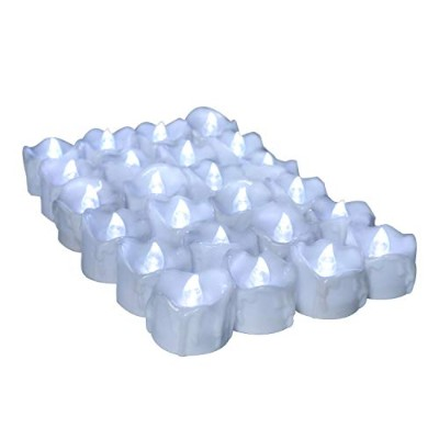 (12, 12PCS Flicker Cool White Timer) - Youngerbaby 12pcs Cool White Flickering Timing Function...