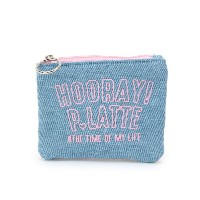 【PINK-latte(ピンク ラテ)】 後ろボーダーロゴティッシュポーチ OUTLET > バッグ・財布・小物入れ > ポーチ ブルー