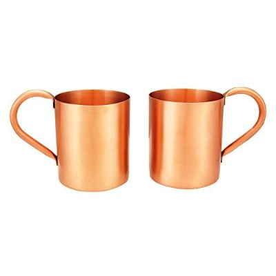 Mothers Day Gift Ideas 470ml Set of 2 100% Pure Moscow Mule Solid Copper Mugs Handcrafted Artisan...