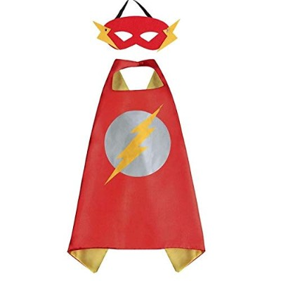 The Flash Childs Cape and Mask set Fancy Dress Halloween Costume