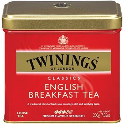 Twinings English Breakfast Tea, Loose Tea, 7.05-Ounce Tins (Pack of 6) by Twinings