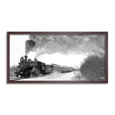 Tarantula Steam Train Engine Long Panel Framed Wall Art Print 蒸気列車エンジン壁