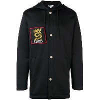 Kenzo logo patch hoodie - ブラック