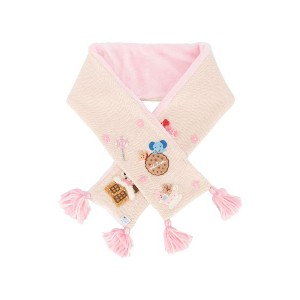Miki House embroidered design scarf - ピンク