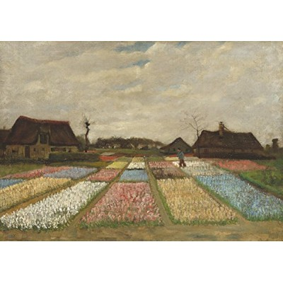 Vincent Van Gogh : Flower Beds in Holland。Fineアートプリント/ポスター。サイズa2( 59.4cm X 42cm )