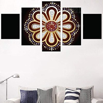 Diamond Flower Pattern Wall Art Canvas Paintings