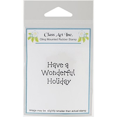 """Class Act Cling Mounted Rubber Stamp 2.75""""X3.75""""-Wonderful Holiday (並行輸入品)"""