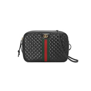 Gucci Small quilted leather shoulder bag - ブラック