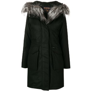 Woolrich military loose parka coat - ブラック