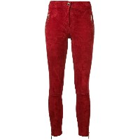 Arma high-waisted skinny trousers - レッド