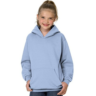 Hanes P473 Youth Comfort Blend Ecosmart Pullover Hoodie Size - Small - Light Blue