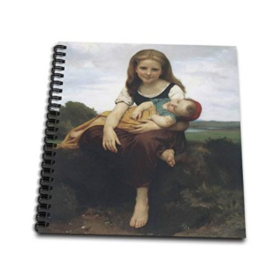 (8x8 drawing book) - BLN Paintings of Children Fine Art Collection - The Elder Sister, 1869 by...