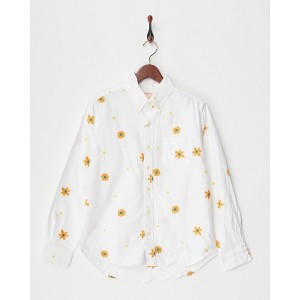 JOEY 総柄刺繍OX B/Dシャツ(花柄)○40026 Off white トップス