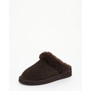BEARPAW Julieムートンスリッポン○CS4SD001W Chocolate サンダル