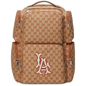 Gucci Large backpack with LA Angels™ patch - ブラウン