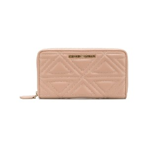 Emporio Armani logo quilted wallet - ピンク