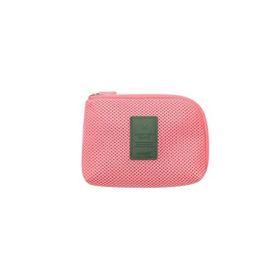 【MONOPOLY 公式】正規品 MONOPOLY CABLE POUCH size S SUGAR CORAL ケーブルポーチ サイズS トラベル 旅行 収納ポケット(シュガーコーラル)